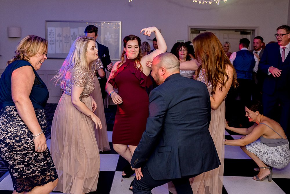 guests dancing at Essex wedding