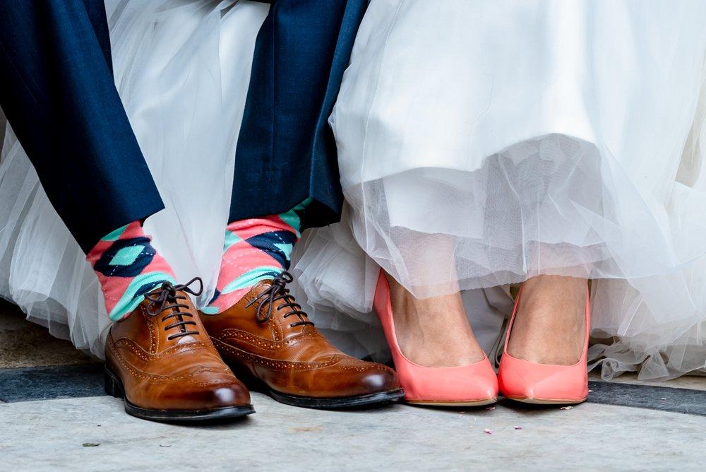colourful wedding shoes