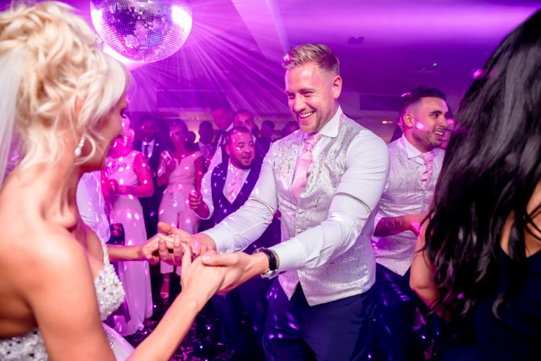 best man dancing with bride at Stoke Place
