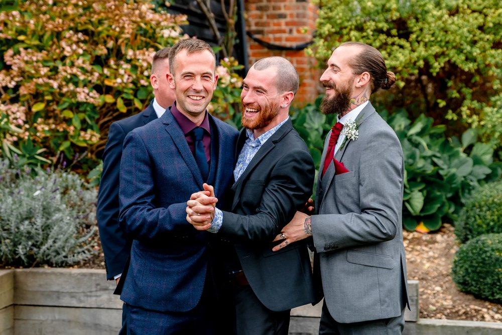 fun groom wedding photo The Warren Essex in Essex