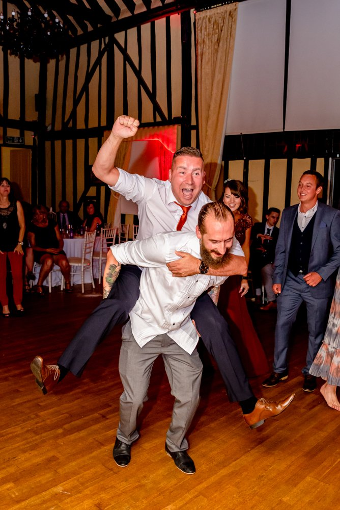 funny wedding dancing The Warren Estate in Essex