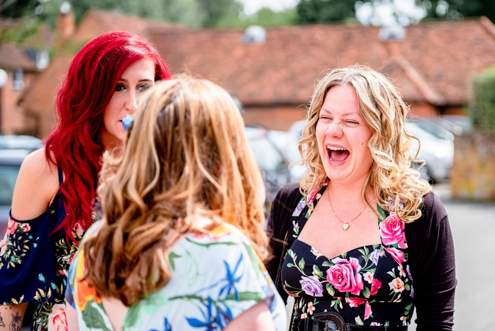 wedding guest laughing Essex Wedding