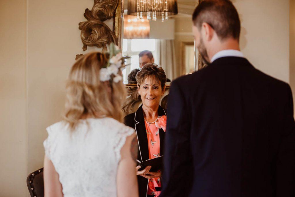 intimate small wedding ceremony Maison Talbooth Essex