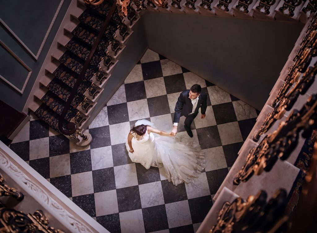 bride and groom wedding photo Hylands House Essex wedding photo