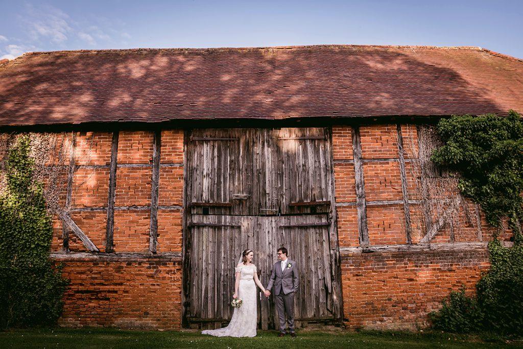 bride and groom wedding photo at Newland Hall Essex wedding venue