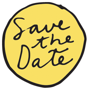 cartoon essex wedding save the date icon